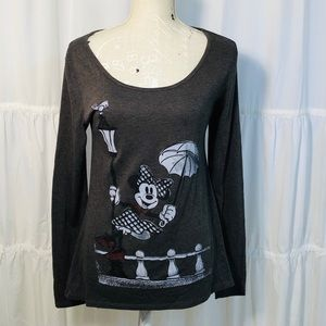 Disney Parks Minnie Mouse Umbrella Lamp Post Tee